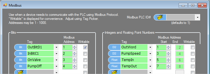 Modbus protocol with the Ace PLCs on RS232, RS485 and USB Ports